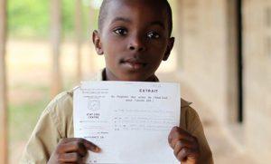 enfants avec extrait du registre des actes de l'etat civil